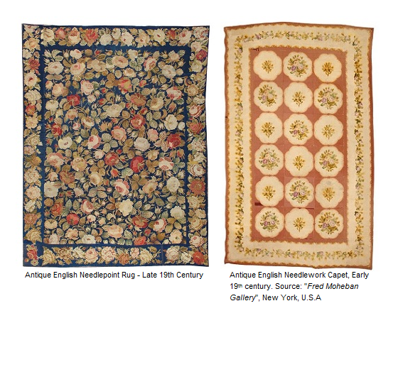 Antique English Needlepoint Carpets