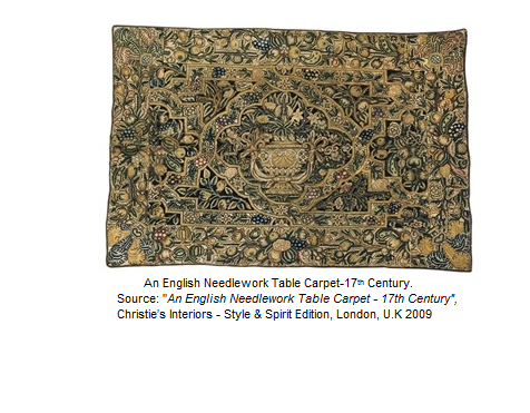 An English Needlework Table Carpet