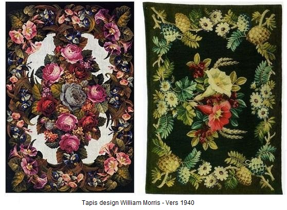 Tapis aux motifs William Morris